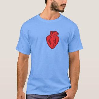 T-shirt coeur 8bit
