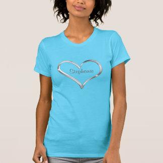 T-shirt Coeur argenté personnalisé