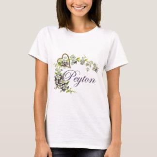 T-shirt coeur avec le peyton de fleurs