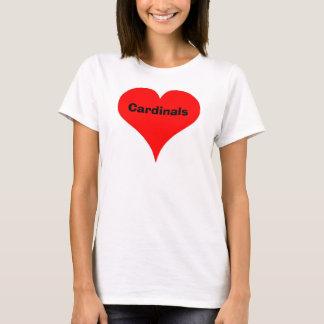 T-shirt coeur, cardinaux