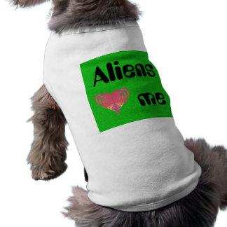 T-shirt Coeur d'aliens je fractale rose de coeur