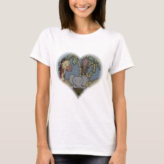 T-shirt Coeur de bébé de jungle
