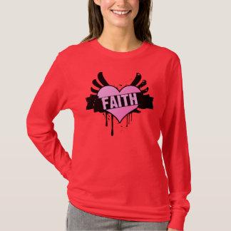 T-shirt Coeur de cancer du sein - foi