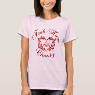 T-shirt Coeur de charité d'espoir de foi