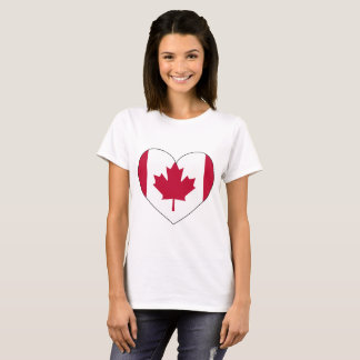 T-shirt Coeur de drapeau du Canada