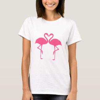 T-shirt Coeur de flamant, deux flamants roses dans l'amour
