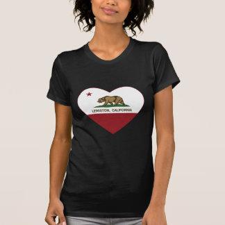 T-shirt coeur de lewiston de drapeau de la Californie