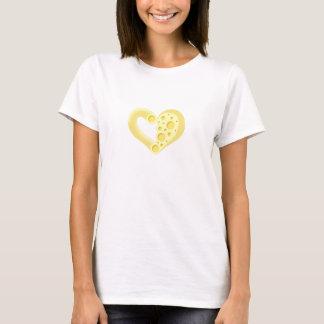 T-shirt Coeur de macaronis au fromage