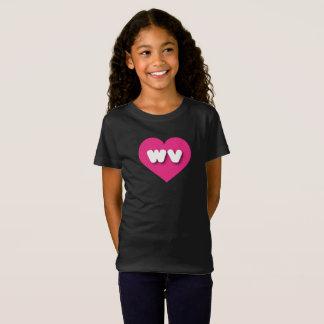 T-Shirt Coeur de roses indien de la Virginie Occidentale -