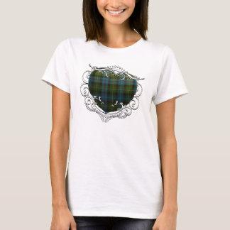 T-shirt Coeur de tartan du Mackenzie