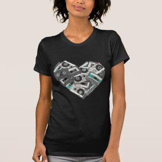 T-shirt Coeur d'enregistreur à cassettes de sentiments