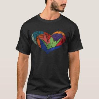 T-shirt Coeur en verre souillé