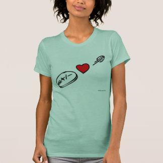 T-shirt Coeur LED de Throwie
