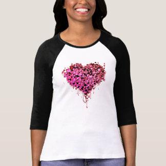 T-shirt Coeur R de graffiti