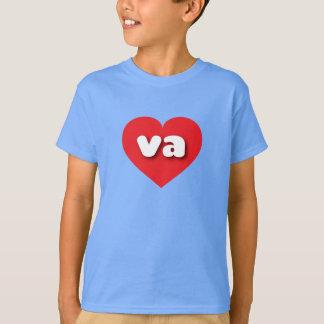 T-shirt Coeur rouge de la Virginie - mini amour