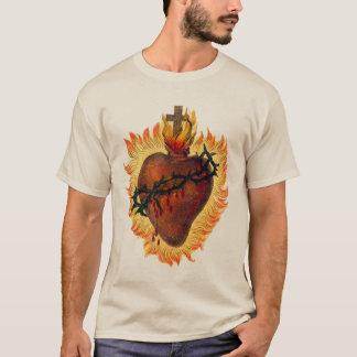 T-shirt Coeur sacré de chemise de Jésus
