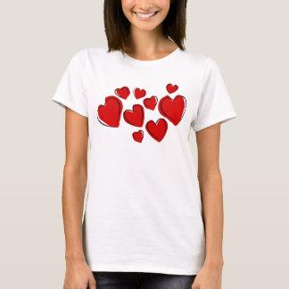 T-shirt Coeurs rouges