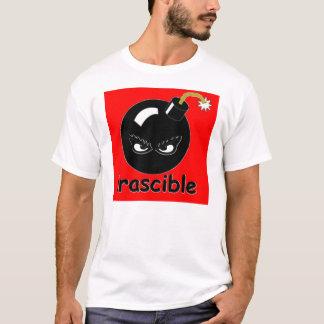 T-shirt colérique de bombe
