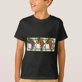 T-shirt Collage animal africain