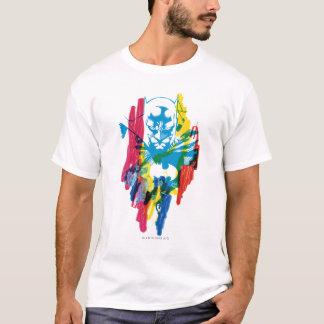 T-shirt Collage au néon de marqueur de Batman