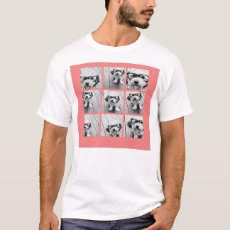 T-shirt Collage de corail de photo d'Instagram avec 9
