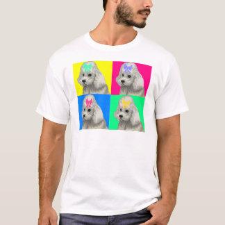 T-shirt Collage lumineux 2 de caniche