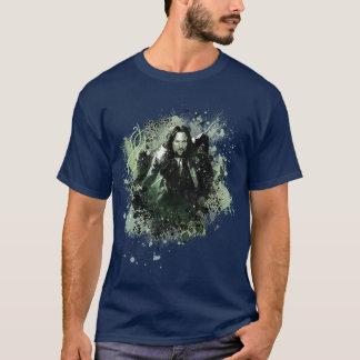 T-shirt Collage verdâtre de vecteur d'Aragorn