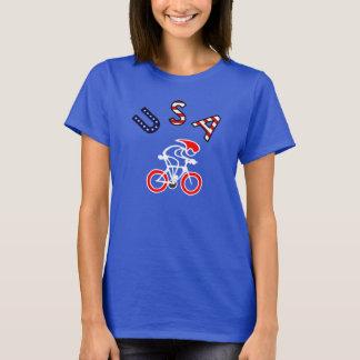 T-shirt Collez avec coureur rouge/foncé de cycliste des
