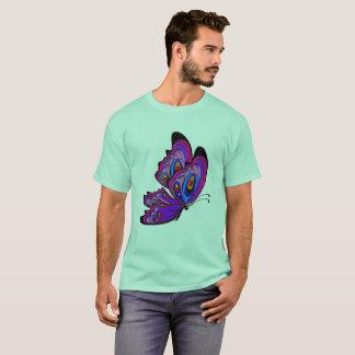 T-shirt coloré de papillon de mandala de yuyass