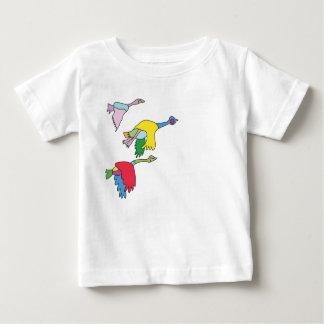 T-shirt coloré d'oies du Canada pour des bébés