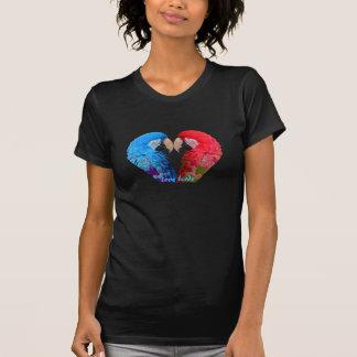 T-shirt Coloré lumineux, ara ou perroquet d'inséparables