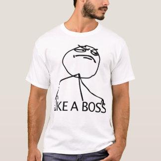T-shirt Comme une rage Meme comique de patron