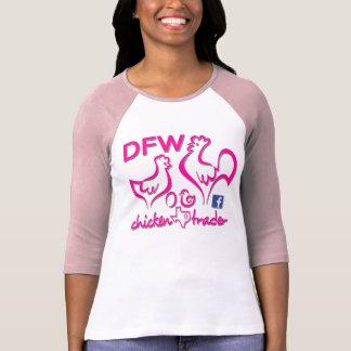 T-shirt Commerçant de poulet de DFW/graphiques roses