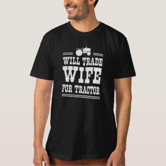 T-shirt Commercera l'épouse pour le tracteur