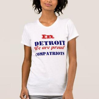 T-shirt Compatriote de Detroit Michigan