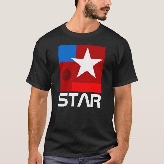 T-shirt Composition blanche en abrégé sur étoile