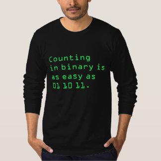 T-shirt Compte dans la binaire
