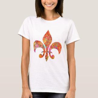 T-shirt Concepteur Fleur-De-Lis d'étoile d'érable