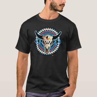 T-shirt Conception 2 de buffle de Natif américain