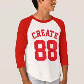 T-shirt Conception blanche et de rouge des enfants | de