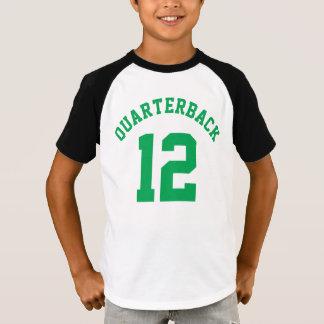 T-shirt Conception blanche et verte d'or des enfants | de