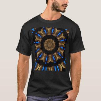 T-shirt Conception bleue électrique d'art