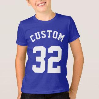 T-shirt Conception bleue et de blanc des enfants | de