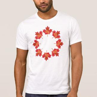 T-shirt Conception canadienne de feuille d'érable