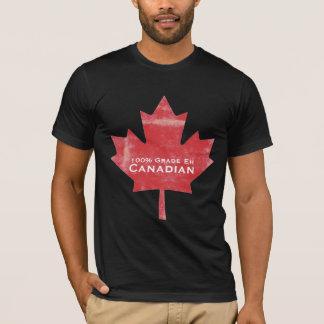 T-shirt Conception canadienne de feuille d'érable de