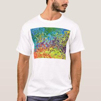 T-shirt conception colorée artistique abstraite