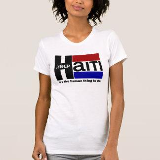 T-shirt CONCEPTION de CHARITÉ du Haïti d'aide