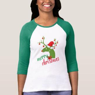 T-shirt Conception de chemise de renne de décoration de