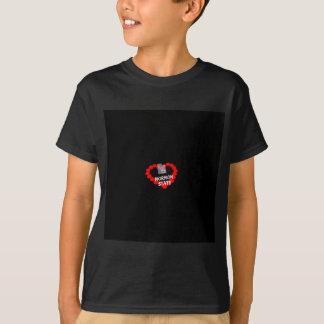 T-shirt Conception de coeur de bougie pour l'État des Utah