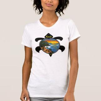T-shirt Conception de coucher du soleil/tortue de Na Pali